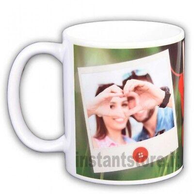 Tazza in ceramica San Valentino personalizzata con foto in polaroid - idea regal