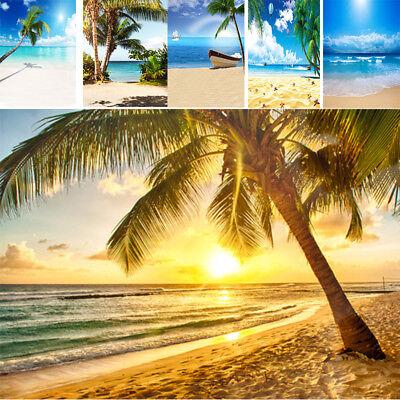 Summer Vinyl Tropical Beach Photo Backdrops Blue Sea Sky Background Studio - Beach Backdrop