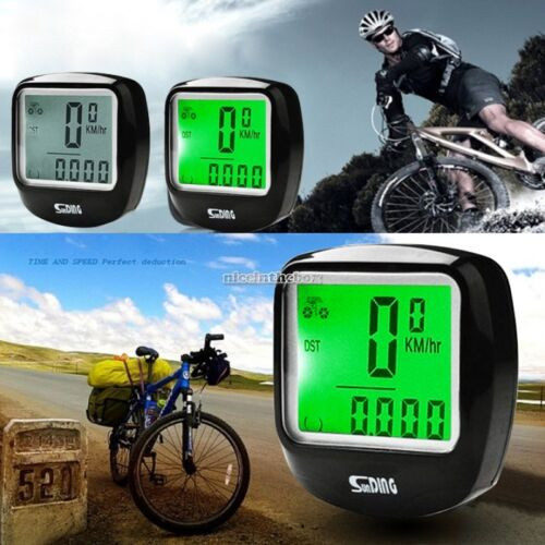 LED Display Bike Bicycle Cycle Computer Odometer Speedometer Backlight