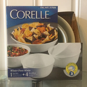 2 Sets of Brand New CORELLE Dinnerware (5 Bowls)
