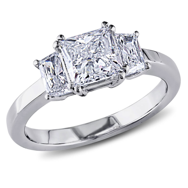 Amour 1 1/2 Ct Tw Diamond 3-stone Engagement Ring In 18k White Gold