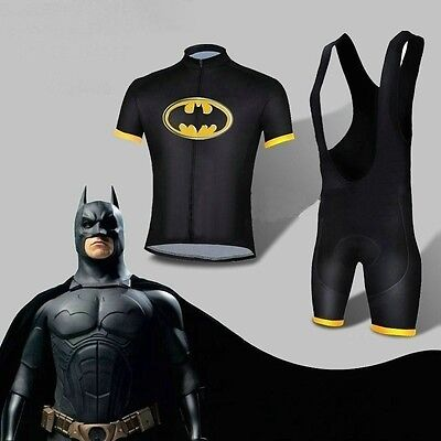 G-LIKE Lycra Batman Costume Dark Knight Returns Cycling Short Jersey+Bib - Dark Knight Returns Batman Costume