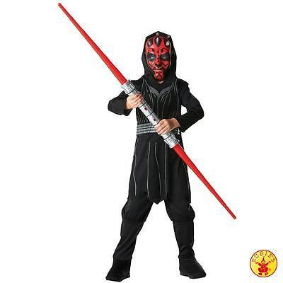 RUB 3881887 Star Wars Kinder Kostüm Darth Maul Boxset mit Lichtschwert + - Darth Maul Kostüm Maske