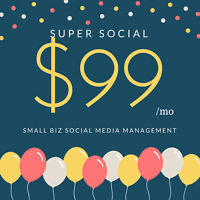 SOCIAL MEDIA MANAGER FOR BUSINESS $99 BUCKS/MO