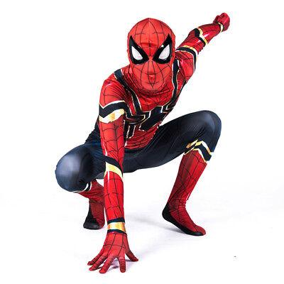 Kids Spiderman (Kids Superhero Spiderman Tight One-piece Jumpsuit Cosplay Costume Fancy Dress)