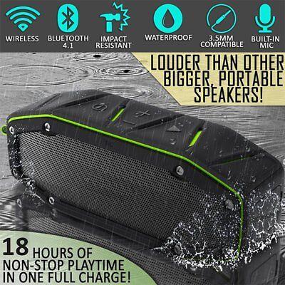 Markco RPB27 20w Rugged Portable Waterproof Bluetooth Speaker w Bumping Bass B2