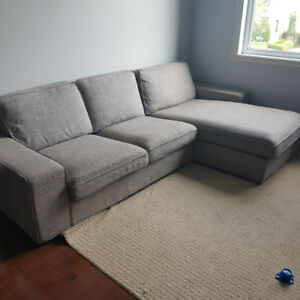 Divan sectionnel gris - Kivik interchangeable (1200$)