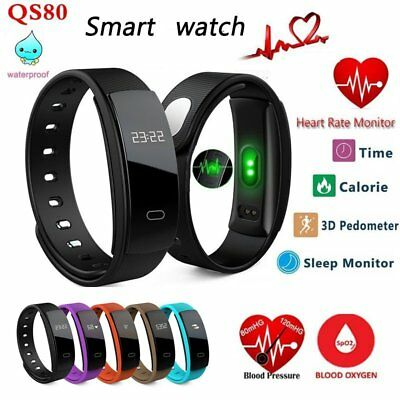 Sports Blood Pressure Heart Rate Fitness Smart Watch Wrist Band Bracelet Gps