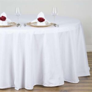 WHITE ROUND TABLECLOTHS FOR SALE