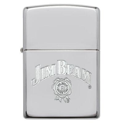 EDEL  ZIPPO  JIM BEAM  Logo + Siegel CHROM  Gravur Ausverkauf