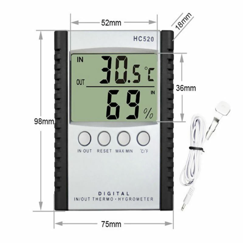Wireless Temperature and Humidity Monitor Temp Monitor System Electron JPD