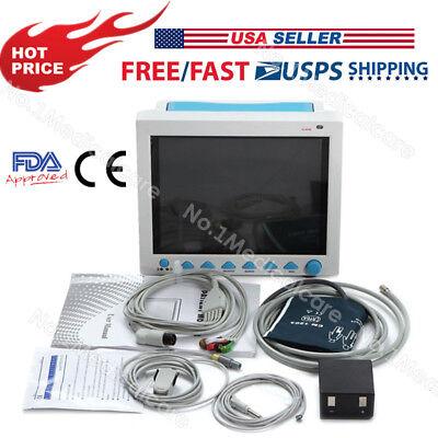 Icu Patient Monitor Multi-parameter Monitor Ecg Nibp Spo2 Pr Resp Temp Fda Ce