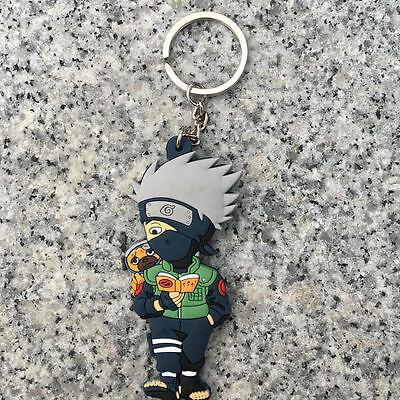 Naruto Shippuden Kakashi Uchiha Cartoon Anime Manga Keychain Keyring Figure Toy
