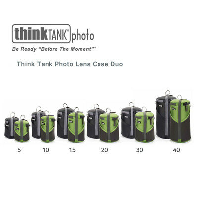 New  Think Tank Photo Lens Case Duo 5/10/20/30/40  Pouch   Black Think Tank Photo Lens