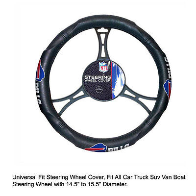 Northwest NFL Buffalo Bills Car Truck Suv Van Boat Steering Wheel Cover