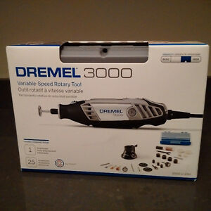 Dremel 3000 Variable Speed Rotary Tool And Flex Shaft Attachmen