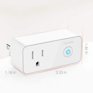 Smart Plug WiFi Outlet with USB Port No Hub required