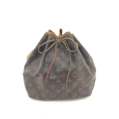 AUTH Vintage Louis Vuitton Monogram Canvas leather Petit Noe M42226 Shoulder Bag