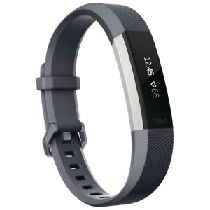 New Open Box Large Blue/Grey Fitbit Alta HR Fitness Tracker