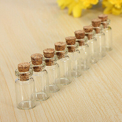 Small Glass Jars Bulk ( Mini Small Clear Tiny Glass Cork Stopper Vial Jars Containers Bottle Bulk )