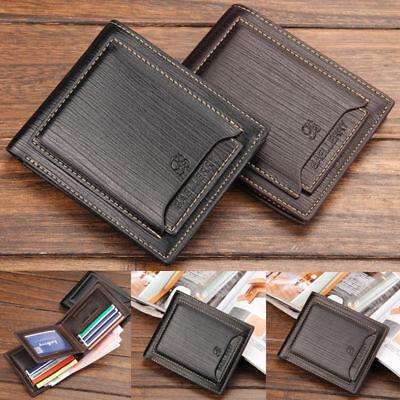Men's Leather Wallet Bifold Credit Card Holder Cash Clutch Purse Best
