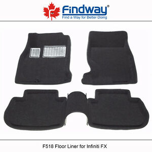 All weather 3D Car Floor Liners for 2003-2008 Infiniti FX35/FX45
