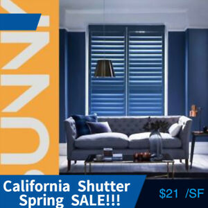 California Shutters  Factory sale  window covering vinyl wood