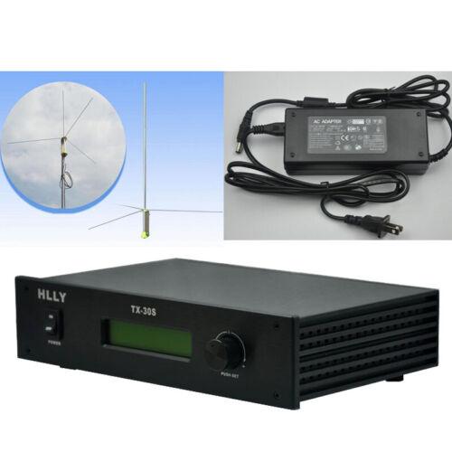 HLLY 30Watt 30W Professional FM Transmitter Radio Include Power and GP Antenna