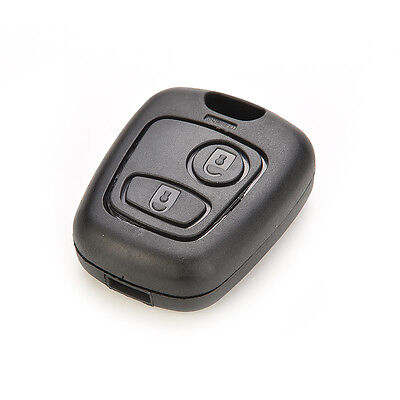 Remote key Fob case 2 Button for Peugeot 106 107 206 207 307 406 shell cover PLU