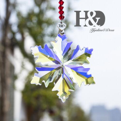 2019 Crystal Snowflake Star Ornament Christmas Collectible Hanging Pendants Gift