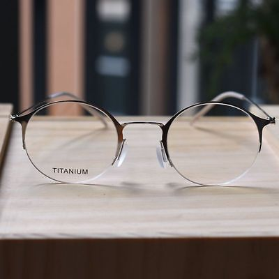Silver Titanium Round Steve Jobs Glasses mens womens optical Eyeglasses eyewear](Steve Jobs Glasses)