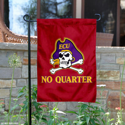 ECU Pirates No Quarter Garden Flag and Yard Banner