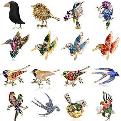 Little Bird Pin - Delicate Little Bird Crystal Rhinestone Collar Brooch Pin Women Jewelry Gift HOT