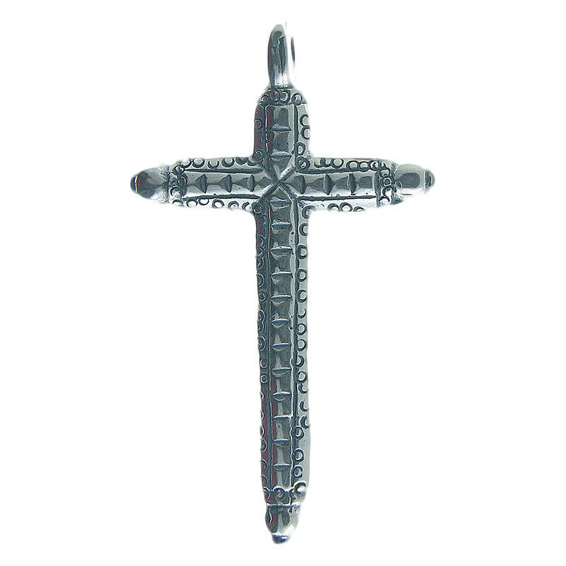 Solid sterling silver DOTTED GUATEMALAN CROSS (C-11)
