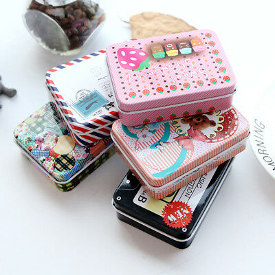 Mini Tin Metal Container Small Lovely Storage Box Candy Jewelry Coin Case - Small Metal Containers