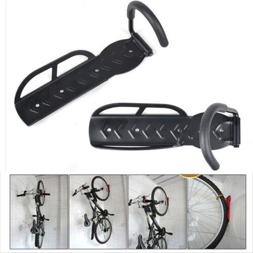2PCS Bicycle Bike Wall Mount Hook Hanger Garage Storage Holder Rack Black New