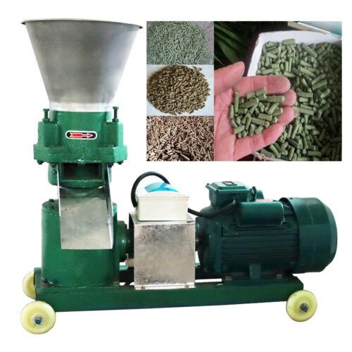 220V High Power Anilmal Feed Pellet Mill Machine 6mm Partical 300lbs / hour
