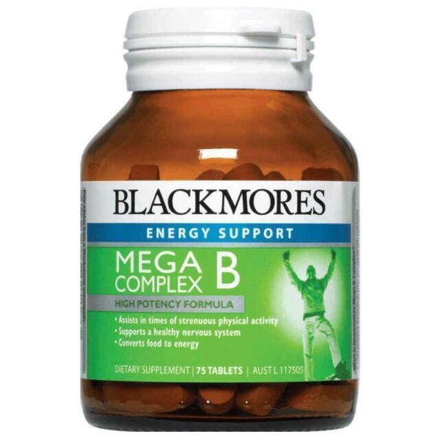 DJP NEW Blackmores Mega B Complex 75 Tablets