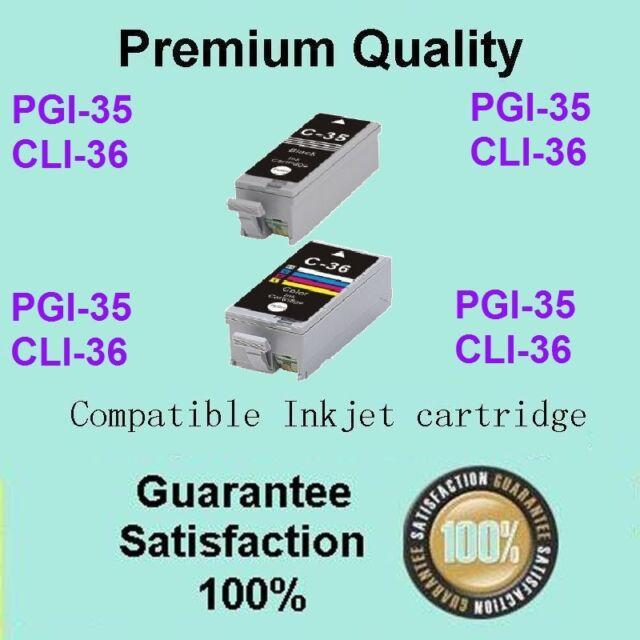 4x INK CARTRIDGE for CANON PGI-35BK CLI-36 with CHIP PIXMA IP100 MINI260 PRINTER