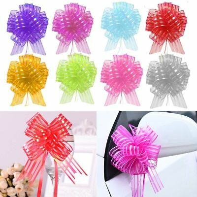 50pcs Large Organza Ribbon Pull Bows Wedding Party Decoration Gift Wrap 50mm - Pull Bow