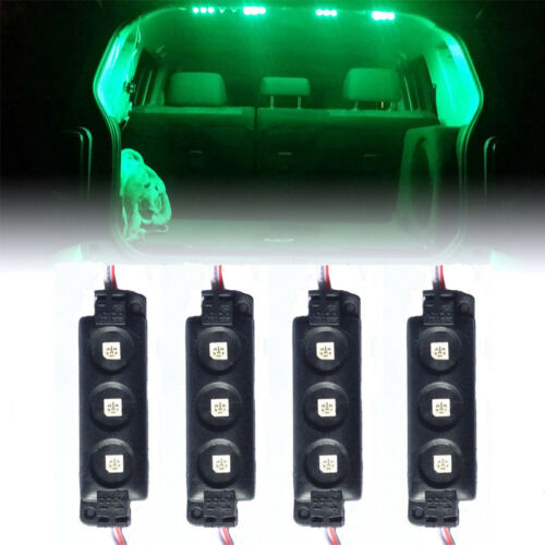 4Pc Green 12 LED Strip Pod Panel Under Body Decoration Rock Lights For Ford F150