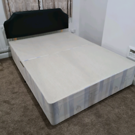 Used double bed frame In good condition Comes with free mattress