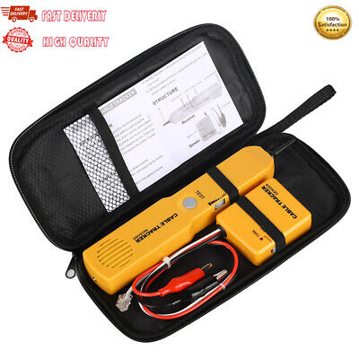 Handheld Telephone Cable Tracker Phone Wire Detector Rj11 Cable Cord Tester Tool