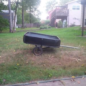 yard cart for ride on lawnmower