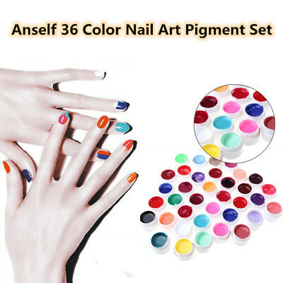 Anself 36 Nail Art UV Gel Set Farbgel Effekt-Gele Nagel Design Für Fingernägel
