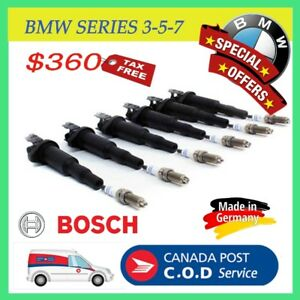 Ignition Coils and Spark Plugs Kit (Set of 6) for BMW series 3 ,