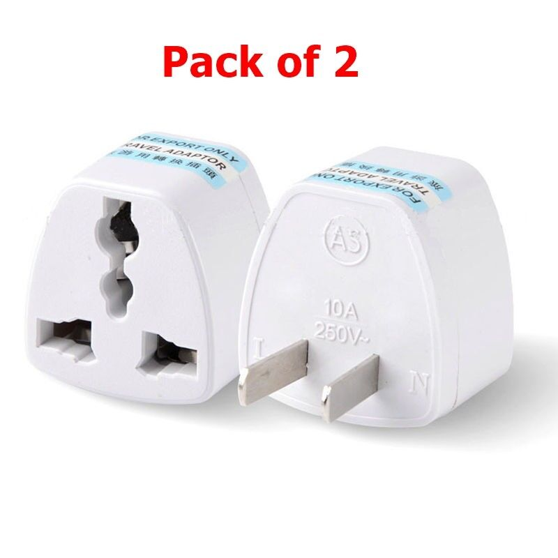 Universal 3 Pin Asia India Europe EU UK To USA Charger Outlet Converter Adapter