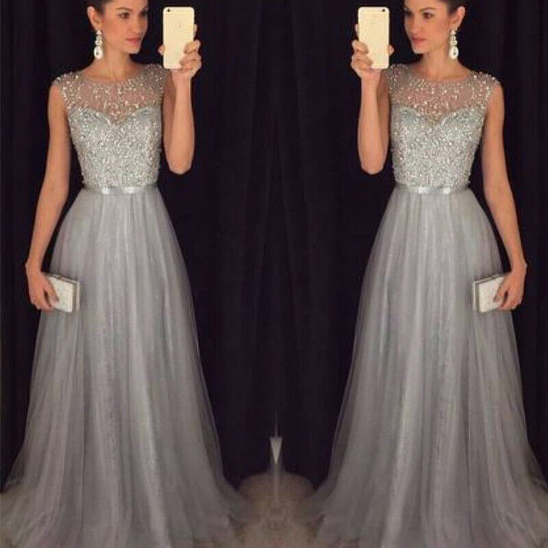 Women Wedding Bridesmaid Evening Party Cocktail Prom Gown Maxi Long Dress