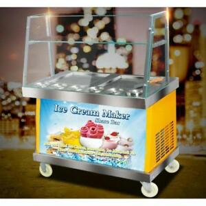 Commercial Ice Cream Maker Machine Fried Ice Cream Machine 110V 220346