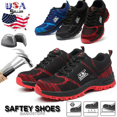 Men Safety Work Shoes Steel Toe Boots Outdoor Sneakers Hiking Climbing Sport S17